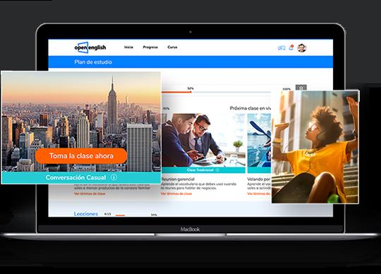 learning platform on tablet
